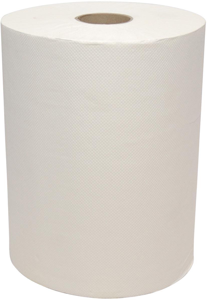 Europroducts handdoekrol Euro Mini Matic CEL 2-laags, 165 meter x 18,3 cm, wit, pak van 6 rollen