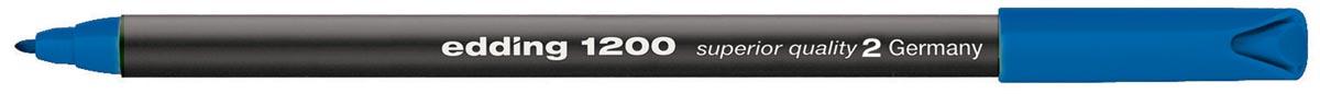 Fineliner Edding 1200 blauw 0.5-1mm