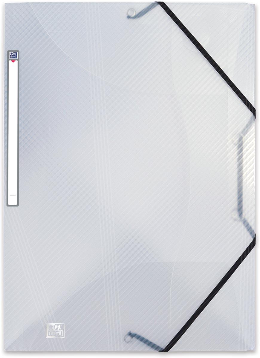OXFORD Hawaï elastomap met 3 kleppen en elastieken, formaat A4, uit PP, transparant