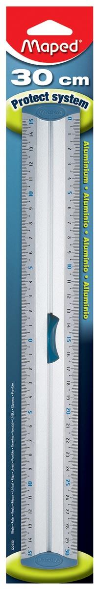 Maped lat Aluminium, dubbele graduatie, 30 cm