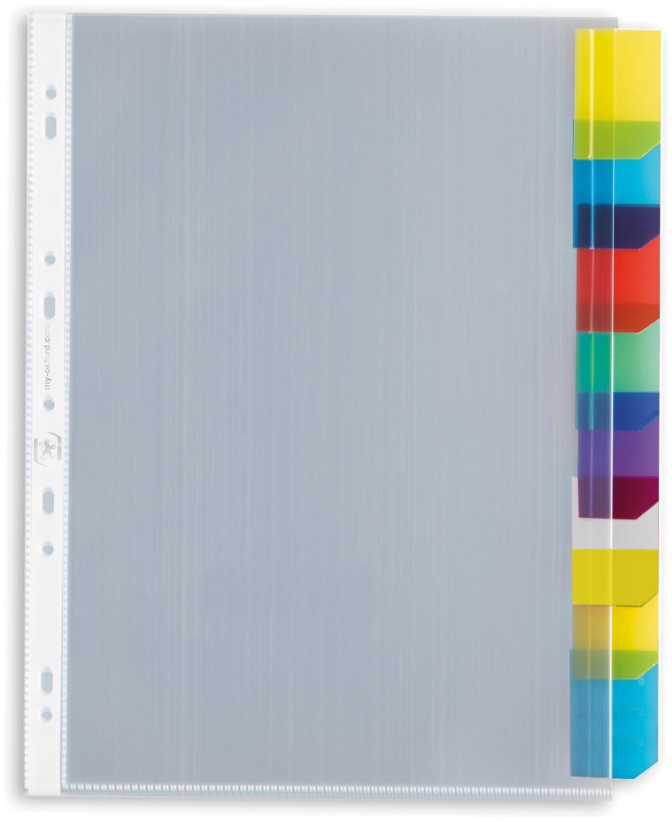 OXFORD tabbladen, formaat A4, uit PP, 11-gaatsperforatie, 8 gekleurde venstertabs