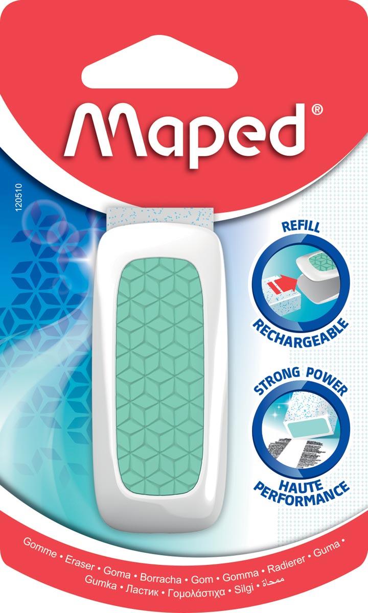Maped gum Technic Ultra Protection, 1 stuk op blister, in geassorteerde kleuren