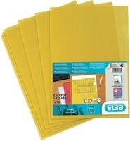 Elba L-map Shine, geel, pak van 10 stuks