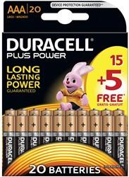 Duracell batterijen Plus Power AAA, blister van 15+5 stuks
