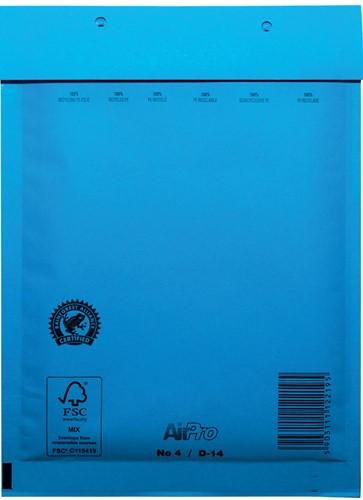 Luchtkussenenveloppen 180x265 mm, doos van 100 stuks, blauw
