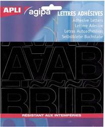 Agipa etiketten cijfers en letters letterhoogte 8 mm, 455 letters en cijfers