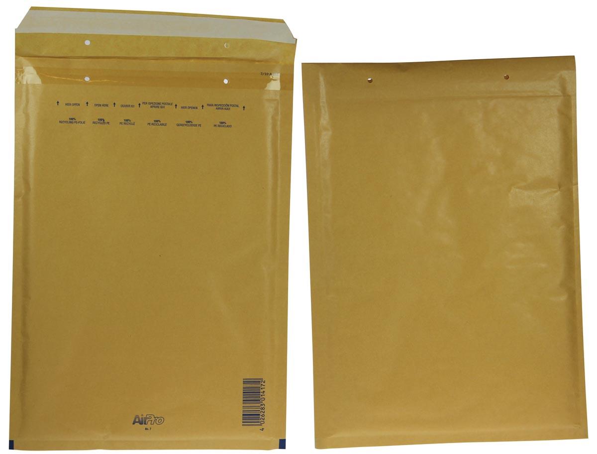 Luchtkussenenveloppen Ft 230 x 340 mm met stripsluiting, bruin, doos van 100 stuks