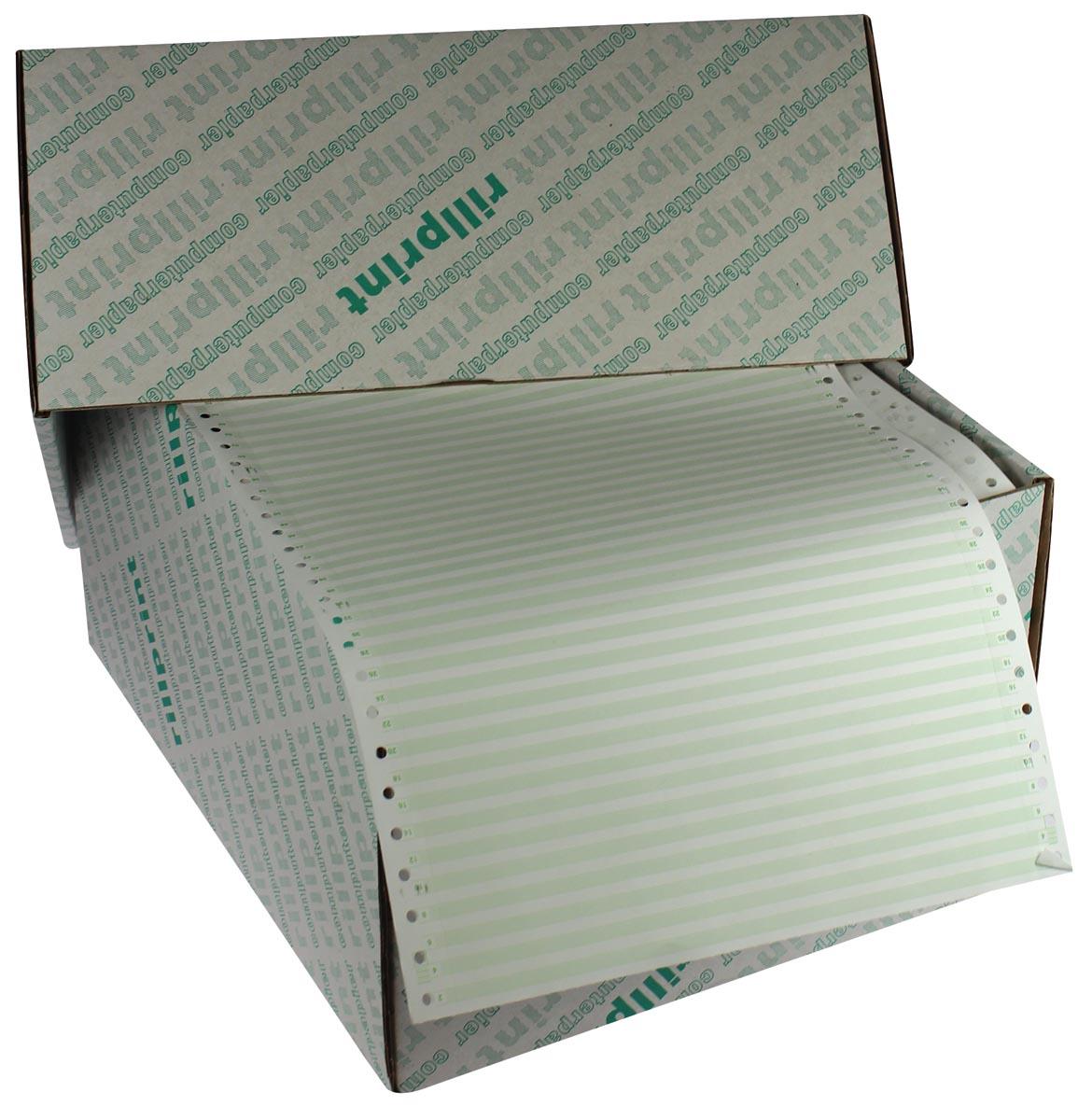 """Zelfkopiërend gestreept papier ft 240 mm x 12"""" (305 mm), tweevoud, doos van 1.000 blad"""