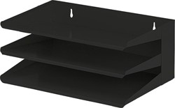 V-Part sorteerrek, 3delig, zwart, Ft 380 mm x 250 mm x 160 mm (B x L x H)