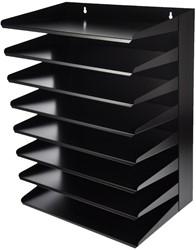 Class'ex sorteerrek, 8delig, zwart,  Ft 250 mm x 380 mm x 500 mm (L x B x H)