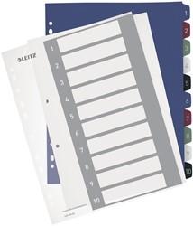 Leitz personaliseerbare tabbladen, 11-gaatsperforatie, 1-10 tabs