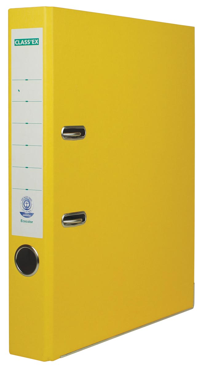 Class'ex ordner Eco, rug van 5 cm, geel
