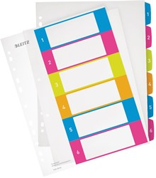 Leitz WOW printbare index, 6 tabs