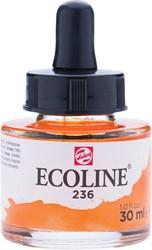 Talens Ecoline waterverf flacon van 30 ml, lichtoranje
