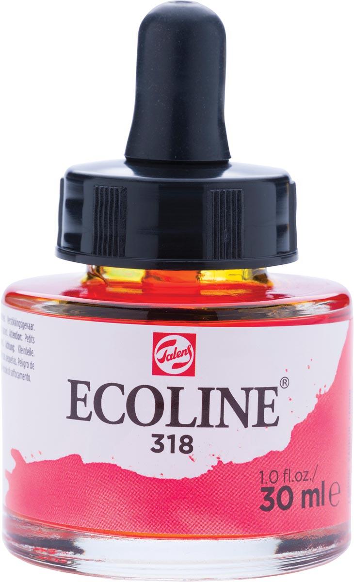 Talens Ecoline waterverf flacon van 30 ml, karmijn