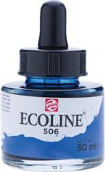 Talens Ecoline waterverf flacon van 30 ml, donker ultramarijn