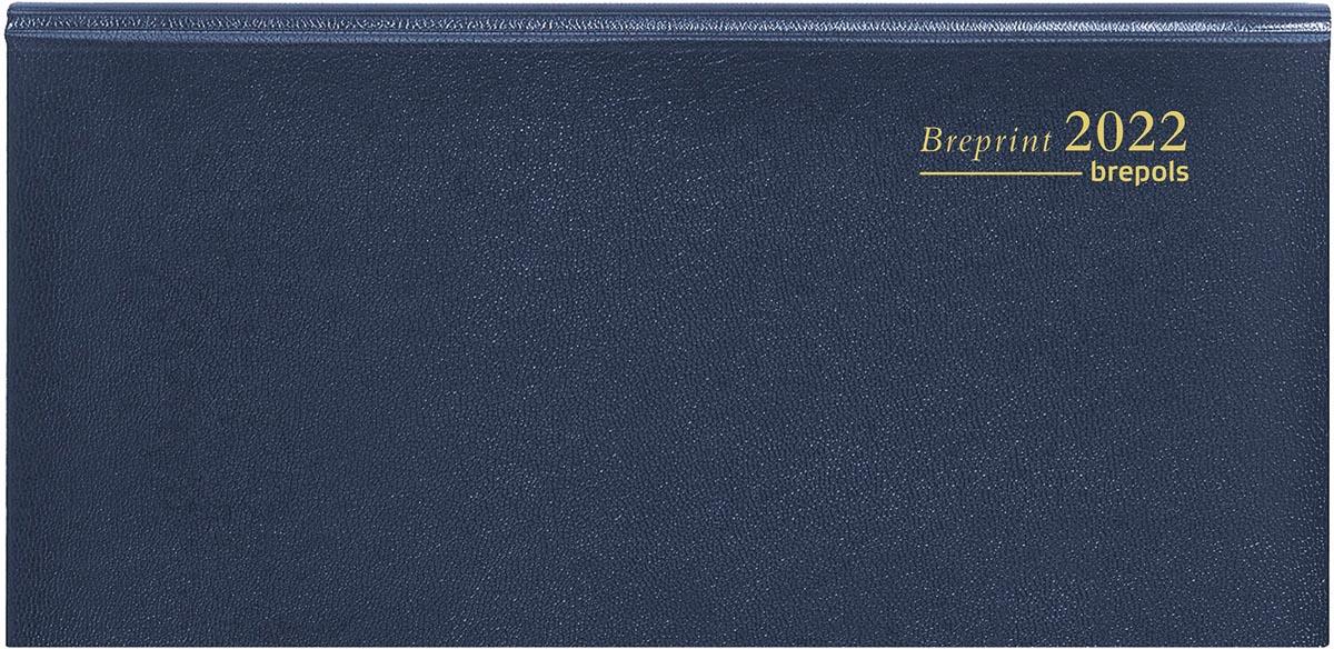 Brepols agenda Breprint Lima 6-talig, blauw, 2022