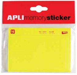 Apli Memory sticker fluo geel