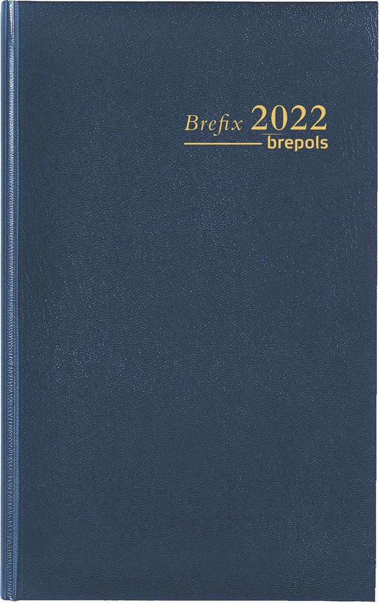 Brepols agenda Brefix Lima 6-talig, blauw, 2022