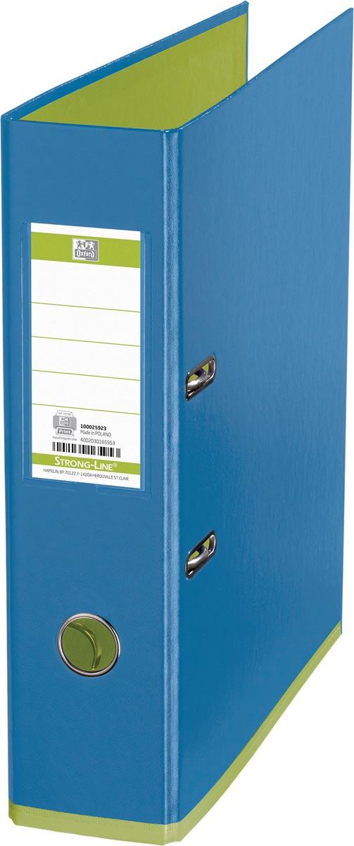 OXFORD MyColour ordner, formaat A4, uit karton, rug van 8 cm, blauw-groen
