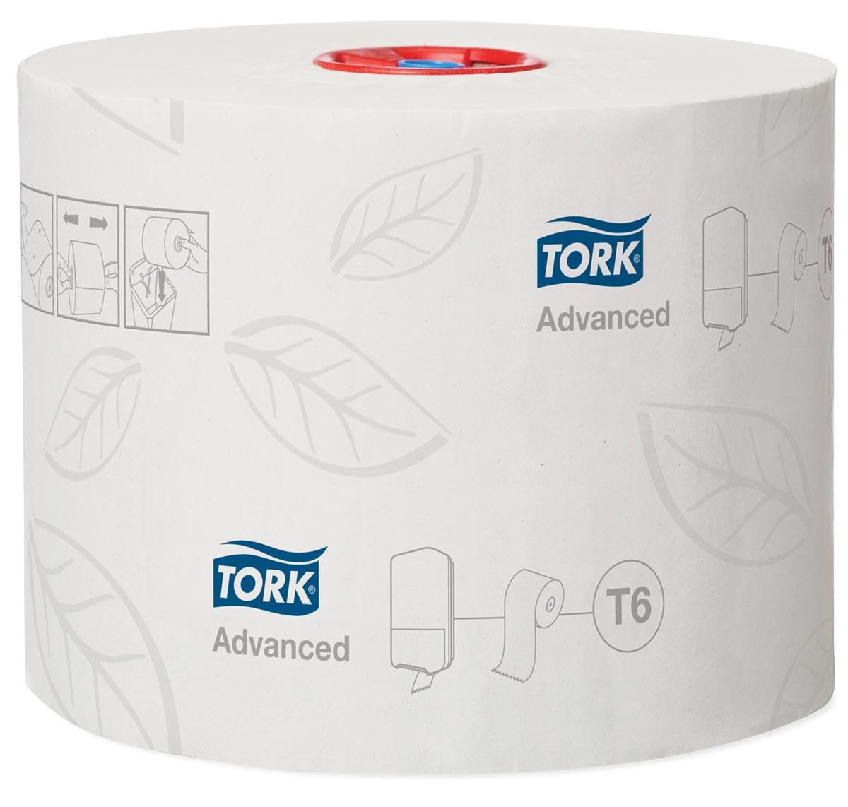 Tork toiletpapier Mid-Size, 2-laags, 100 meter, systeem T6, pak van 27 rollen