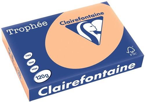 Clairefontaine Trophée Pastel A4 abrikoos, 120 g, 250 vel