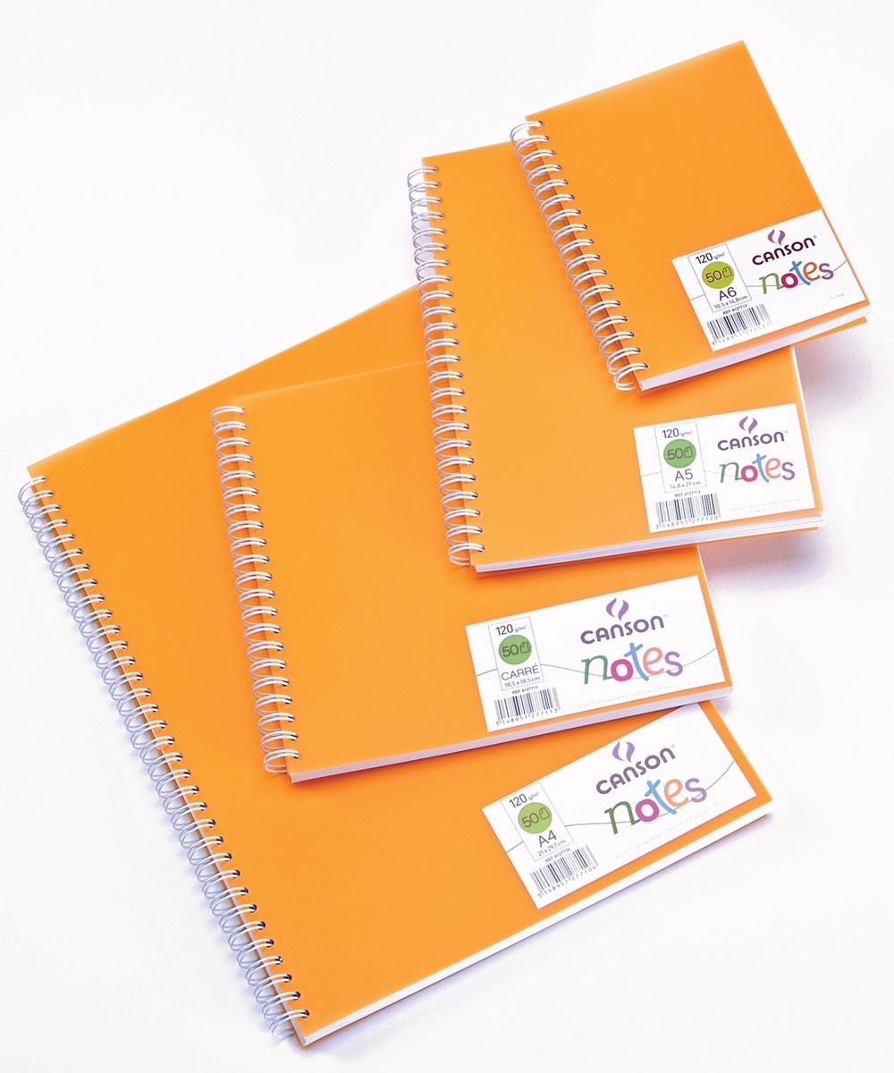 Canson schetsboek Notes, ft A6, oranje