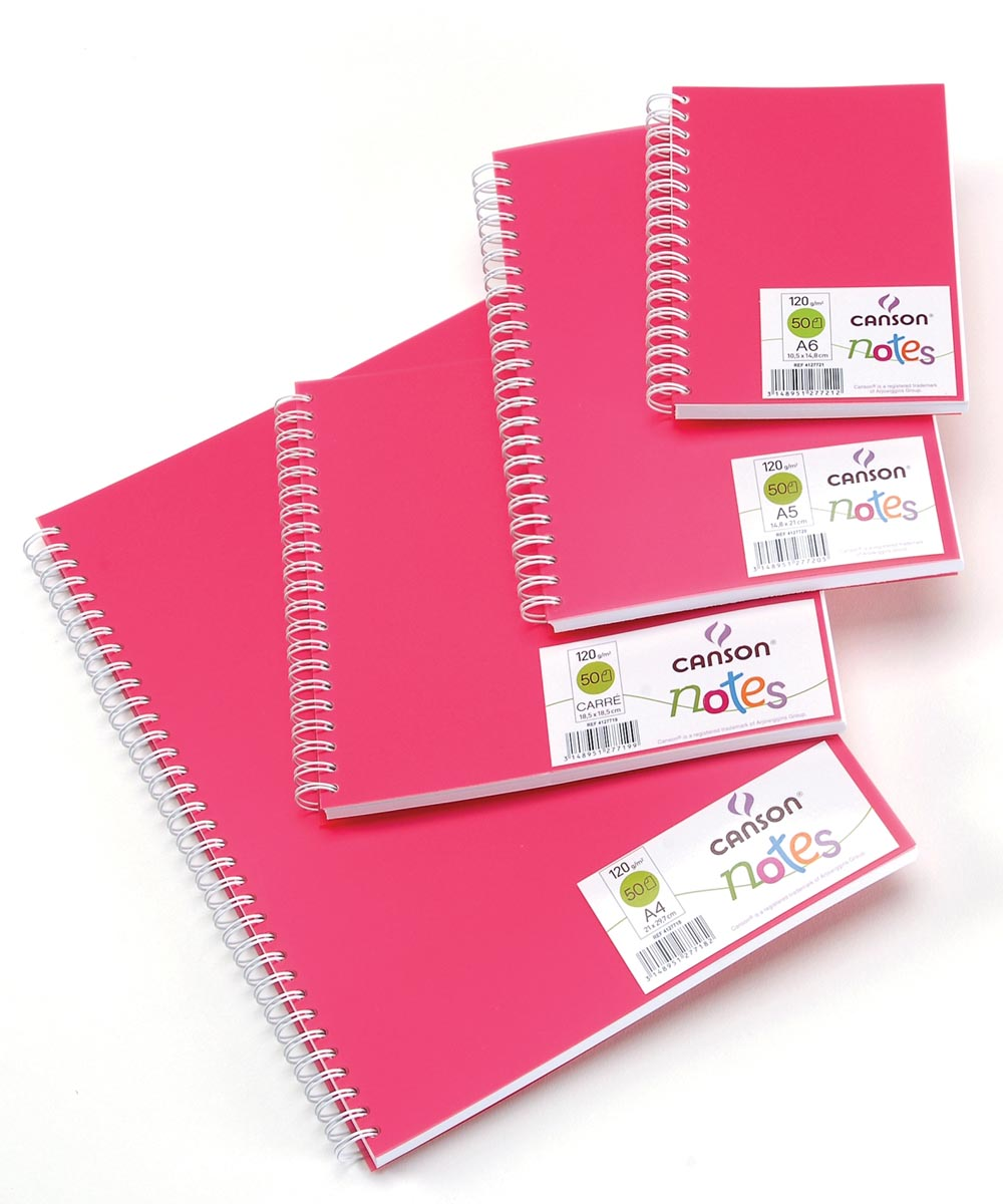 Canson schetsboek Notes, ft A4, roze
