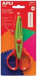 Apli Kids hobbyschaar zigzag 13 cm, op blister