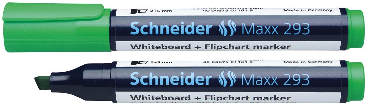 Schneider whiteboard + flipchart marker Maxx 293 groen
