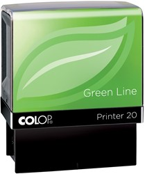 Colop stempel Green Line Printer Printer 20, max. 4 regels, voor België, ft. 14 x 38 mm