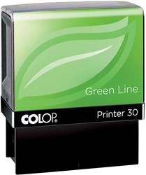 Colop stempel Green Line Printer Printer 30, max. 5 regels, voor België, ft. 18 x 47 mm