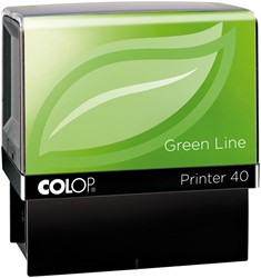 Colop stempel Green Line Printer Printer 40, max. 6 regels, voor België, ft. 23 x 59 mm