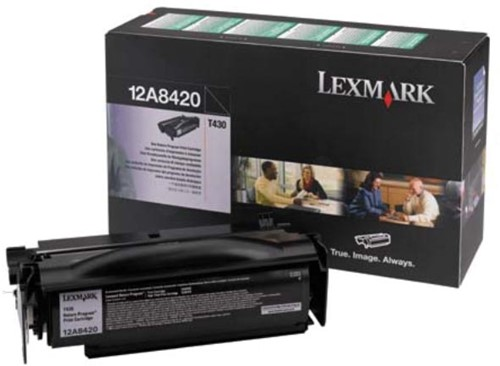 Lexmark Tonercartridge zwart return program - 6000 pagina's - 12A8420