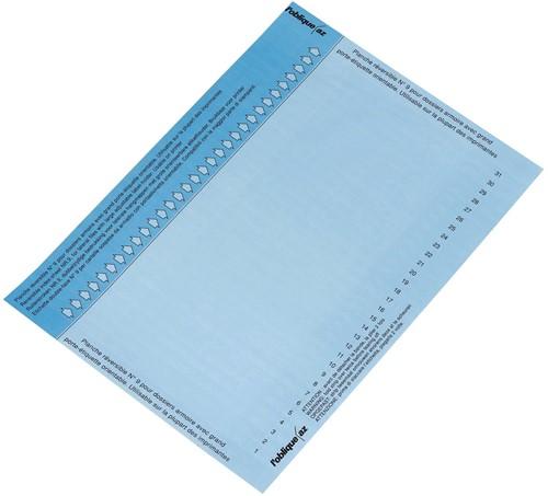 Elba ruiterstrook type 9, vel met 31 etiketten, blauw