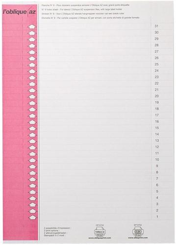 Elba ruiterstrook type 9, vel met 31 etiketten, roze