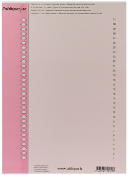 Elba etiketten voor hangmappen voor kasten nr. 9, roze