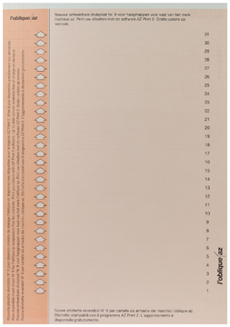 Elba etiketten voor hangmappen voor kasten nr. 9, oranje
