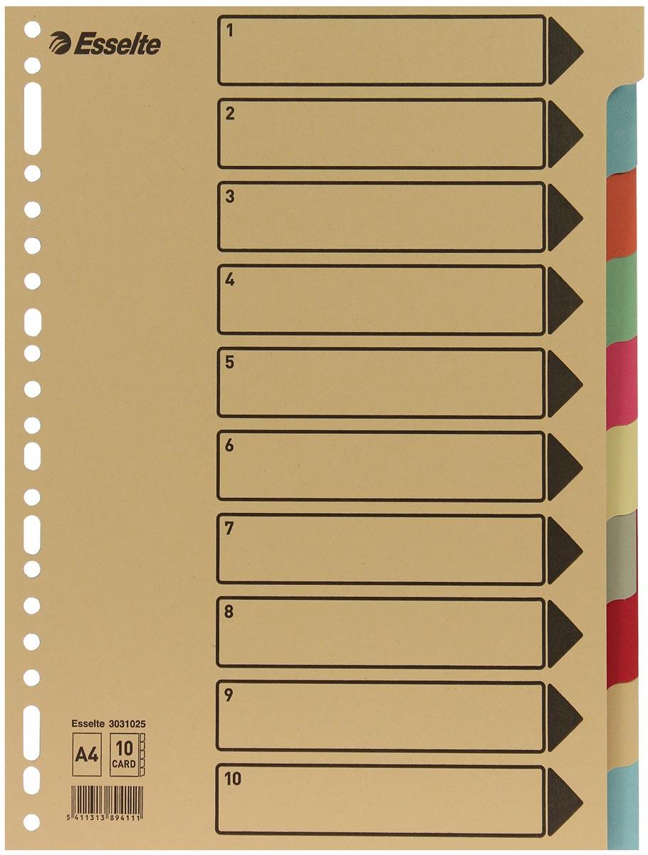 Esselte tabbladen 10 tabs, karton van 275 g/m²