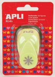 Apli Kids figuurpons voor papier 16 mm bloem, op blister