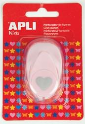 Apli Kids figuurpons voor papier 16 mm hart, op blister
