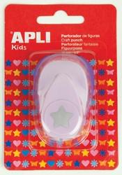 Apli Kids figuurpons voor papier 16 mm ster, op blister
