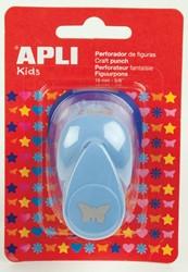 Apli Kids figuurpons voor papier 16 mm vlinder, op blister