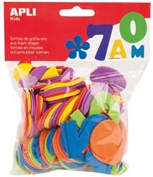 Apli Kids schuimrubber cijfers, blister met 120 stuks in geassorteerde kleuren