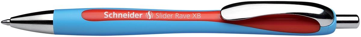Balpen Schneider Slider Rave blauw-rood
