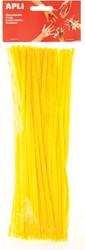 Apli chenilledraad, blister met 50 stuks, geel