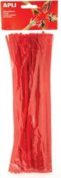 Apli chenilledraad, blister met 50 stuks, rood