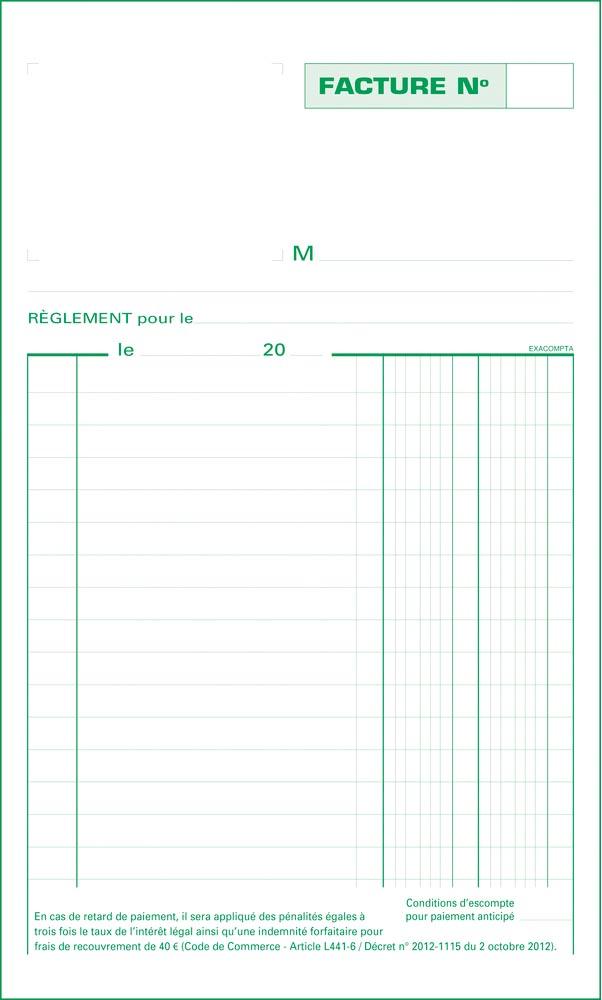 Exacompta doorschrijfboek facturen, ft 22 x 13,5 cm, zelfkopiërend, dupli