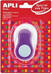 Apli Kids figuurpons voor schuimrubber 25,4 mm cirkel, op blister