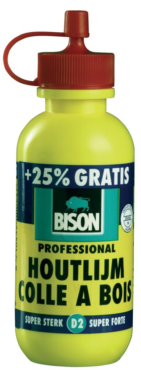 Bison Lijm 1337076 Wit Voor binnentoepassingen op alle soorten hard en zacht hout hardboard spaanpla